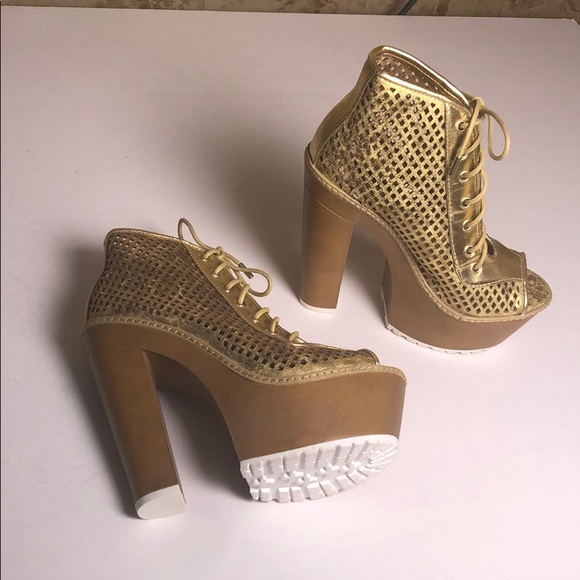 Dollhouse Shoes - Dollhouse Sexy Tough - Construction Cage Heels 👠
